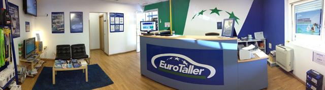 Sala de espera y recepción. EuroTaller Seseña.
