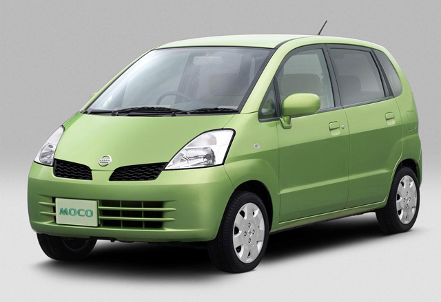 Nissan Moco verde.