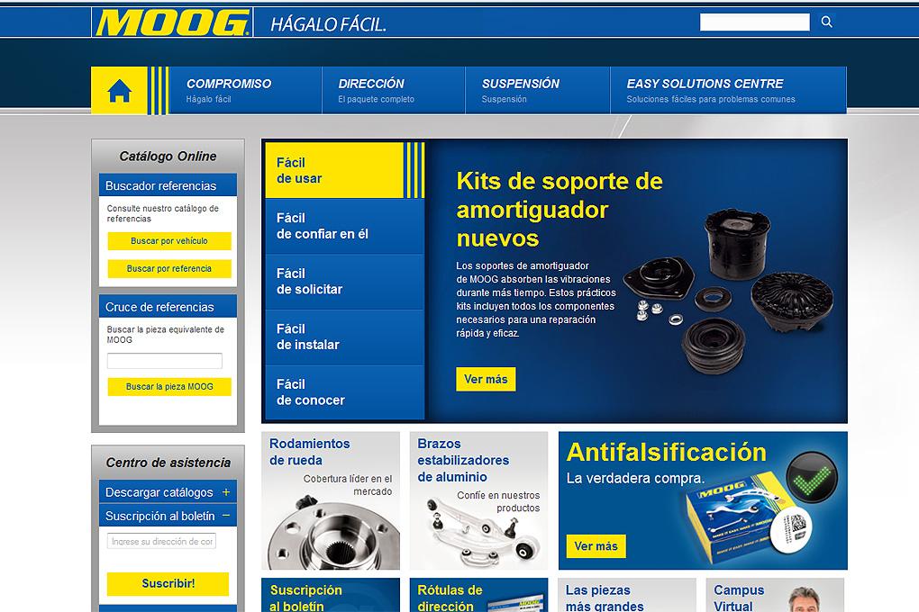 Nueva web Moog